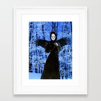 edgar allan poe Framed Art Prints featuring Nevermore - Edgar Allan Poe by Danielle Tanimura