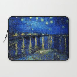 Starry Night Over the Rhone by Vincent van Gogh Laptop Sleeve