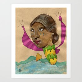 Crying Sea Monster Art Print
