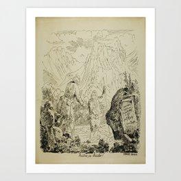 Plakat decouverte de la source de lavey en Art Print