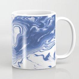 Iwao - indigo blue monochromatic spilled ink japanese paper marble trendy hipster minimal painting Coffee Mug