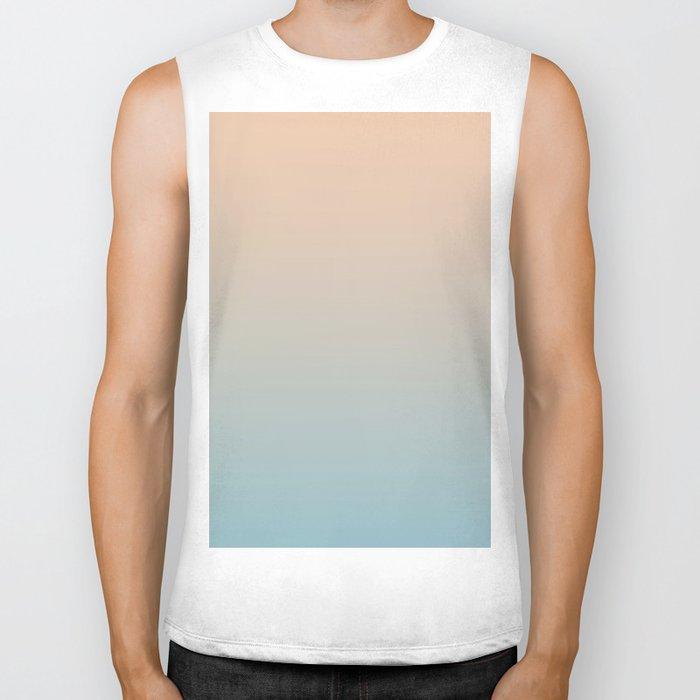 HALF MOON - Minimal Plain Soft Mood Color Blend Prints Biker Tank