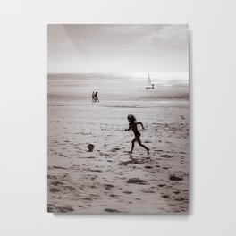 Foot on the beach Metal Print