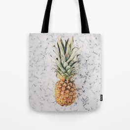 Pineapple Marble Background Tote Bag