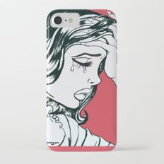 Crying Red Vintage Comic Book Painting  Slim Case iPhone 7