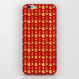 Mandarin Ducks, love and eternal knot pattern iPhone Skin