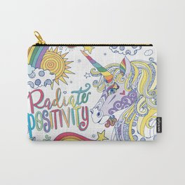 Magical Rainbow Unicorn, Radiate Positivity, Be Kind Carry-All Pouch