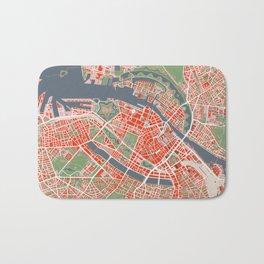 Copenhagen city map classic Bath Mat