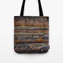 Aged Log Cabin rustic decor Tote Bag