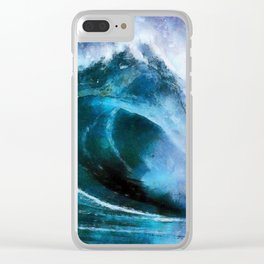 Rolling wave Clear iPhone Case
