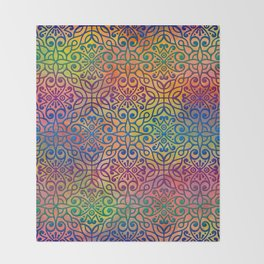 DP050-1 Colorful Moroccan pattern Throw Blanket