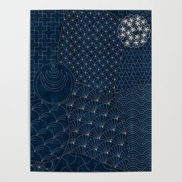 Sashiko - random sampler Poster