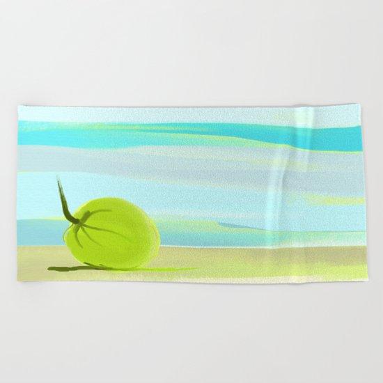 tropic beach Beach Towel