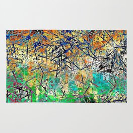 Modern Etching Abstract Design Rug