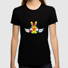 One Tooth Rabbit Pilot With Aviator Goggles T-shirt