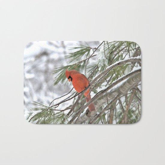 Snow Globe Cardinal Bath Mat