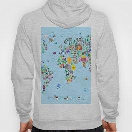Animal Map of the World Hoody
