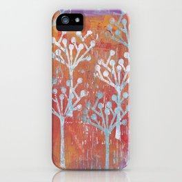 orange dot tree forest iPhone Case