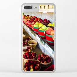 Autumn Apples Clear iPhone Case