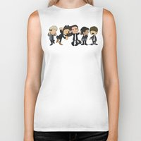 1d Biker Tanks featuring Schulz Dancing 1D by Ashley R. Guillory