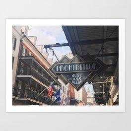 Bourbon Street: A Summary Art Print