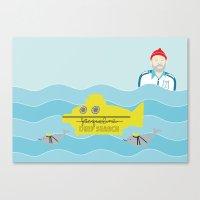 life aquatic Canvas Prints featuring Life Aquatic by Arthurs Plaid Pants