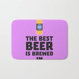 Best Beer is brewed in August Bw06j Bath Mat