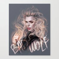 bad wolf Canvas Prints featuring Bad Wolf by jasric