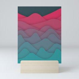 Liquid Mountains Mini Art Print