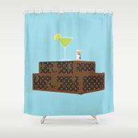 jasmine Shower Curtains featuring blue jasmine by Live It Up