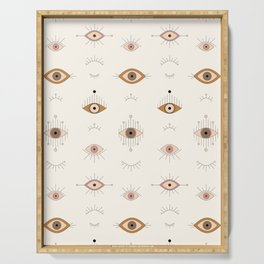 Magic Evil Eye Pattern Serving Tray
