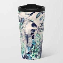 Floral Tiger Travel Mug