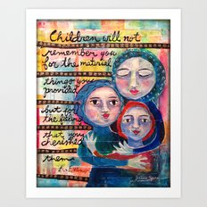 What Children Will Remember Art Print