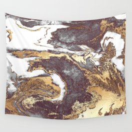 Black White Gold Wall Tapestry