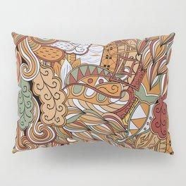 Stylized Boho Bulb Pattern Pillow Sham