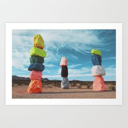 7 magic moutains las vegas Art Print
