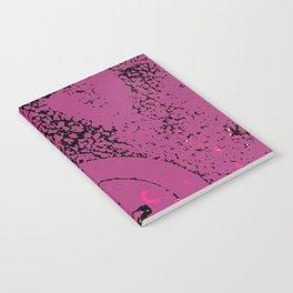 Pink Valve on Black Notebook