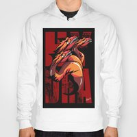 hydra Hoodies featuring Hydra by John Hernandez Art
