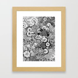 Growth in 3 Directions - Black and White Framed Art Print
