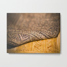 Magic Carpet Beautiful Embroidered East Asian Pattern Tapestry Metal Print