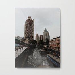 City of Contrast Metal Print