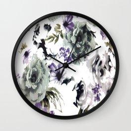 Kwan Yin Roses Wall Clock