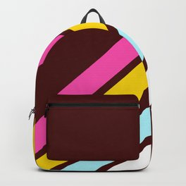 80's Style Retro Stripes Backpack