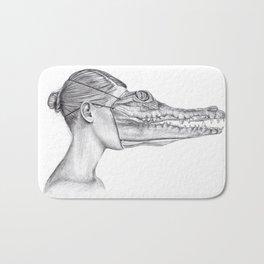 The Alligator Mask Bath Mat