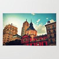 madrid Area & Throw Rugs featuring Madrid Sky by Melanie Ann