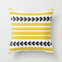 striped Throw Pillows featuring Striped by Mariana Nabas