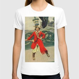 """Captain Keitt"" Pirate Art by Howard Pyle T-shirt"