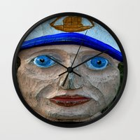 sailor Wall Clocks featuring Sailor by Fine2art