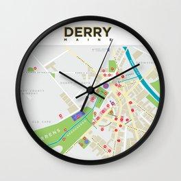 Derry Map (It, Insomnia...) Wall Clock