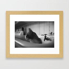 Oliver Suggests a Bath Framed Art Print